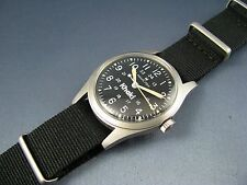 Vintage Hamilton Khaki Military Style Hack Set Mens Watch Stainless Steel 17J