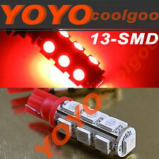 2 pieces Red T10 13-SMD LED W5W 194 168 921 Car Light Xenon Bulbs A028