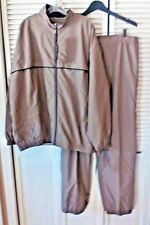 Weatherproof Performance Track Suit Pants Jacket XXL Polyester Light Brown MC51