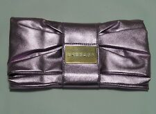 VERSACE Perfume Ultra Femme Metalic purple Clutch Evening Bag Purse Wallet Prom