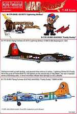 Kits World Decals 1/48 B-17 FLYING FORTRESS Lightning Strike & Fuddy Duddy