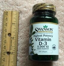 Highest potency Vitamin D-3, from Swanson      5000 IU, 250 softgels