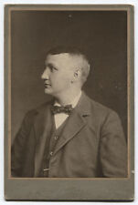 CABINET CARD MAN IN PROFILE, I.D. ON CARD BACK.