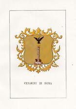 Araldica stemma araldico della famiglia Cesarini di Roma