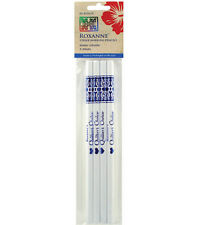 Chalk Marking Pencils, 4 White, Water Soluble, Roxanne Quilting Sewing