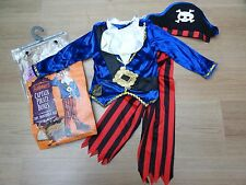 BOYS BNWT AGE 3-4 PIRATE FANCY DRESS COSTUME WITH HAT WORLD BOOK DAY