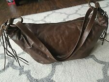 Not Rational Italian Brown Leather Large Carryall Suzy Bag MINT!