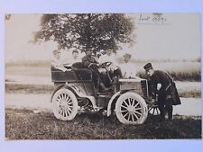 12C9 CARTE PHOTO PORTRAIT DE MILITAIRE DU 132 e RI VOITURE AUTOMOBILE TACOT 1909