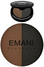 Emani Minerals Duo Brow Filler & Eye Liner Coco/Black 719 NEW VEGAN