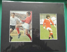 GEORGE BEST 1960's MANCHESTER UNITED SIGNED with George Cohen FULHAM in display