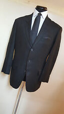 *YOHJI YAMAMOTO* 100% LINEN BLACK BLAZER 3 BUTTON NO VENTS- M-APPROX 42 LONG