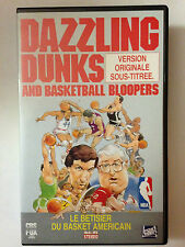 K7 VIDEO VHS NBA DAZZLING DUNKS AND BASKETBALL BLOOPERS