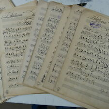 Orquesta partes lotosblumen Walzer Emil Ohlsen, Antiguo escritas a mano