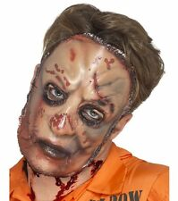 Deluxe Latex Zombie Flesh Mask Peeling Skin Scars Scabs Bloody Peeled Face Adult