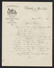 """BUE (18) MARECHALERIE SERRURERIE / MARECHAL FERRANT """"CARRE"""" en 1911"""
