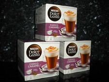 DOLCE GUSTO 48 CHOCO CARAMEL PODS 3 X 8 NEW COFFEE HOT CHOCOLATE FREE P&P NEW