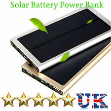 Slim 100000mAh Solar Power Bank Mobile Battery Charger For iPhone iPad htc Sony
