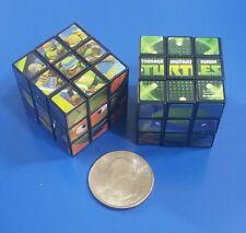 """Teenage Mutant Ninja Turtles Miniature 1-1/8"""" Puzzle Cubes - Set of 2 - 3X3X3"""