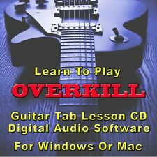 OVERKILL Guitar Tab Lesson CD Software - 51 Songs