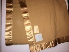 """Vintage 100% Wool Blanket Made in England by J.Atkinson Satin Edges 108""""x 90"""""""