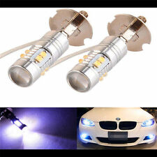 2x H3 50W Hight power Cree LED 6000K White Fog Light Bulbs