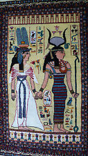s. antiker Orientteppich  Vintage Egyptian Pictorial rug Goddess Isis and Hathor
