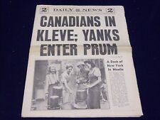 1945 FEBRUARY 12 NEW YORK DAILY NEWS - CANADIANS IN KLEVE - NP 1998