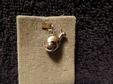 Sterling Silver Snail Charm Pendant NEW
