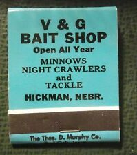 Matchbook - V and G Bait Shop Hickman NE Fishing FULL
