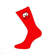 Funny Face Mens Red Novelty Socks