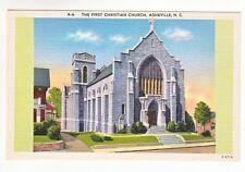 Postcard: First Christian Church, Asheville, N.C.