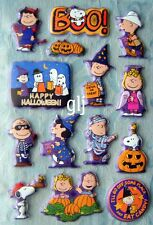 PEANUTS GANG - HALLOWEEN - PUFFY AMERICAN GREETINGS SCRAPBOOKING STICKERS NWOP