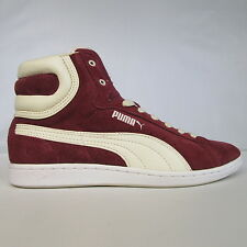 Womens Ladies PUMA CROSS SHOT Mid Burgundy Suede Mid shoes trainers SIZE UK 6.5