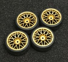 Gold R/C Sport 1/10 Scale Rims and Tires RC Car Pre-Glued !  4 Tec HPI