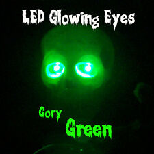 LARGE 10mm LED GLOWING EYES HALLOWEEN GREEN 9 VOLT 12 inch wires
