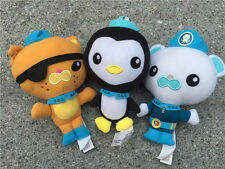 "Fisher Price Octonauts 7"" Stuffed Plush Dolls Barnacles Kwazii Peso 3pcs New"