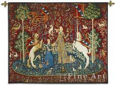 62x51 LADY & UNICORN Sense of Taste Medieval Tapestry Wall Hanging