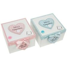 Baby Keepsake Buttons & Bows Memory Box Large ( BLUE )