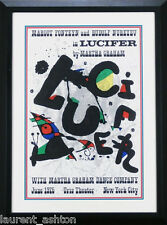 JOAN MIRO ORIGINAL LITHOGRAPH POSTER LUCIFER MARTHA GRAHAM  DANCE COMPANY 1975