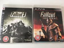 2 Games for Sony PlayStation 3, PS3 - Fallout 3 / Fallout New Vegas - Open World