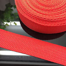 "NEW DIY 50 Yards 1"" 25mm Width Red Nylon Webbing Strapping Sewing craft S07"