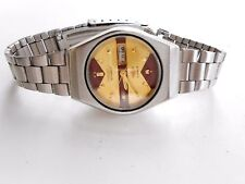 Rare Vintage Yellow Brown Dial Citizen 21J Japan Automatic Ladies Watch