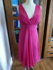 BNWT L.K. Bennett pink Rose silk 'Spin' dress 16 NEW party event wedding
