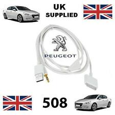 Peugeot 508 iPhone iPod USB & Aux 3.5mm connectivity Cable replacement in white