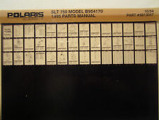 1995 Polaris SLT750 Microfiche Parts Manual Catalog B954170 Jet Ski SLT 750 PWC