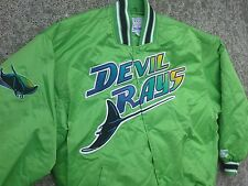 VTG RARE Tampa Bay Devil Rays Starter satin jacket coat 90s jersey neon green XL