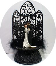 Edward and Bella's Wedding Cake Toppers Halloween Twlight Sga Sexy Black
