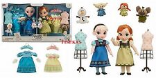 "Disney Store Animators Elsa & Anna Dolls 16"" Deluxe Gift Set Frozen Singing NEW"