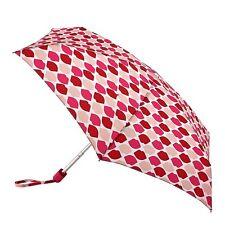 Lulu Guinness by Fulton Ladies Tiny-2  Designer Umbrella Lips Grid Stone