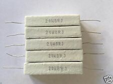 5 Pcs Wire Wound Ceramic Cement Resistor 8 Ohm 20W 5%